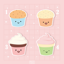 Load image into Gallery viewer, Cute Cupcake Sticker