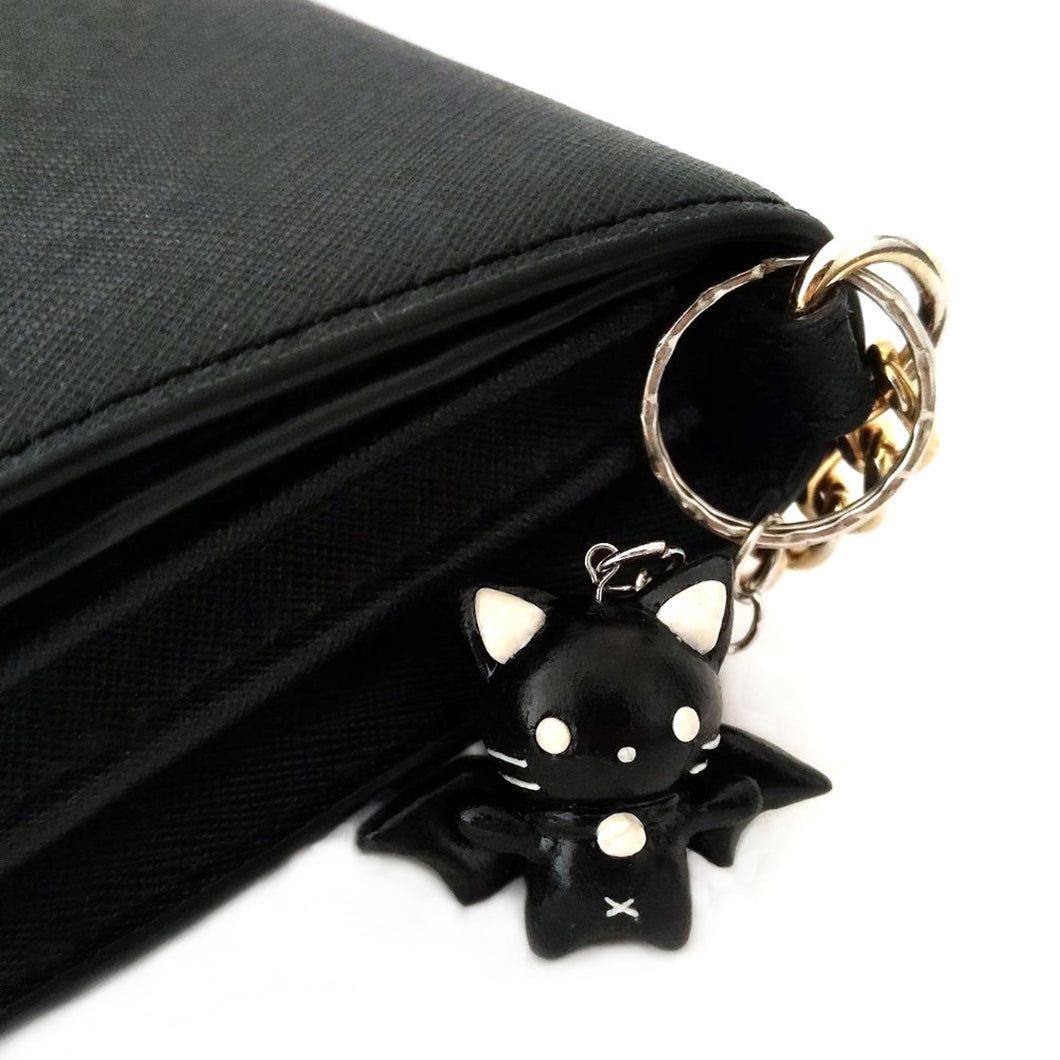 Kawaii Black Bat Cat Charm