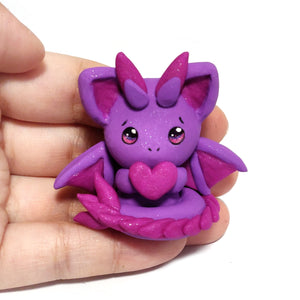 Purple Sparkly Dragon Charm