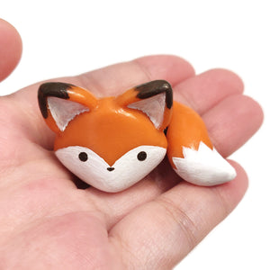 Orange Fox Figurine