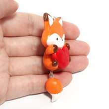 Load image into Gallery viewer, Fox Heart Charm
