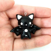 Load image into Gallery viewer, Kawaii Black Bat Cat Charm