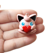 Load image into Gallery viewer, Jigglypuff Heart Charm