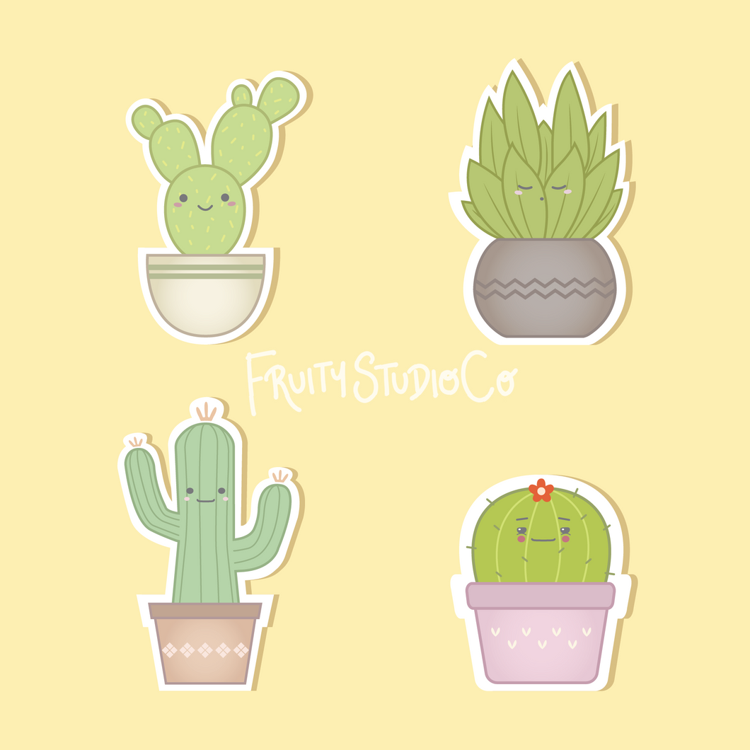 Kawaii Plant Sticker