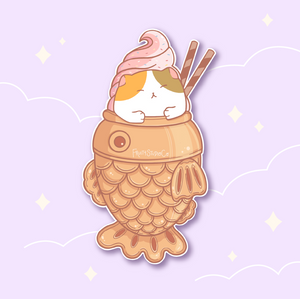 Taiyaki Dessert Cat Sticker