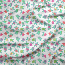 Load image into Gallery viewer, Berry Flowers White Cotton Poplin Fabric By the Yard