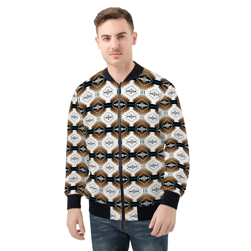 Cofitichequi White Men's Bomber Jacket