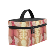 Load image into Gallery viewer, Butterfly and Roses on Geometric Cosmetic Bag/Large (Model 1658) Cosmetic Bag e-joyer