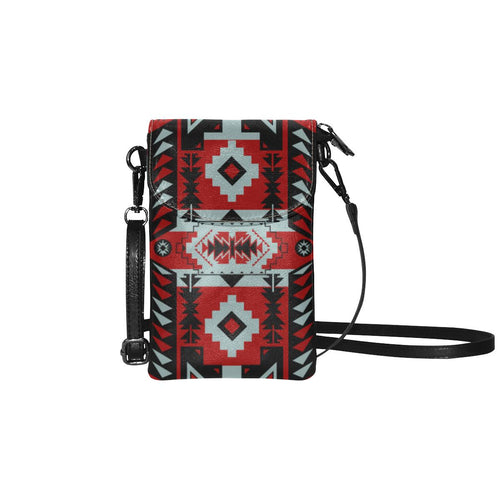 Chiefs Mountain Candy Sierra-Dark Small Cell Phone Purse (Model 1711) Small Cell Phone Purse (1711) e-joyer