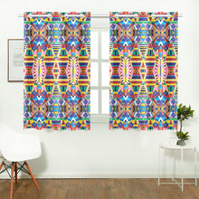 "Load image into Gallery viewer, Crow Captive Large Kitchen Curtain 26'' X 39''(2 Pieces, 1 Design) Kitchen Curtain 26"" X 39"" e-joyer"