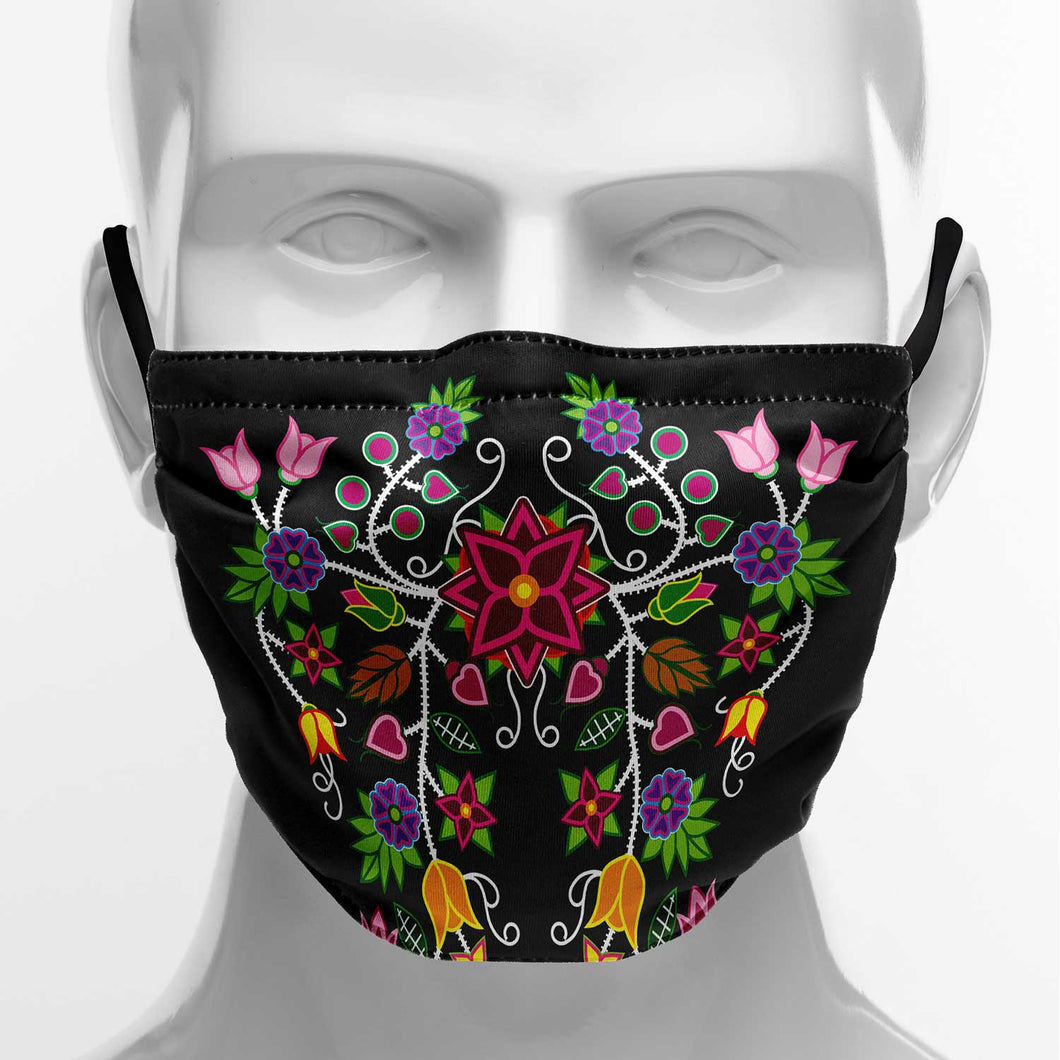 Floral Beadwork Face Cover Herman