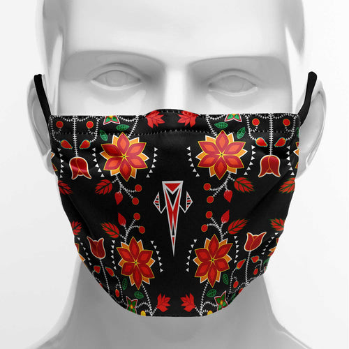 Floral Beadwork Six Bands Face Cover Herman