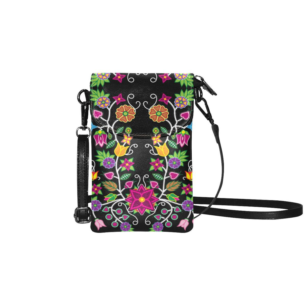 Floral Beadwork Small Cell Phone Purse (Model 1711) Small Cell Phone Purse (1711) e-joyer