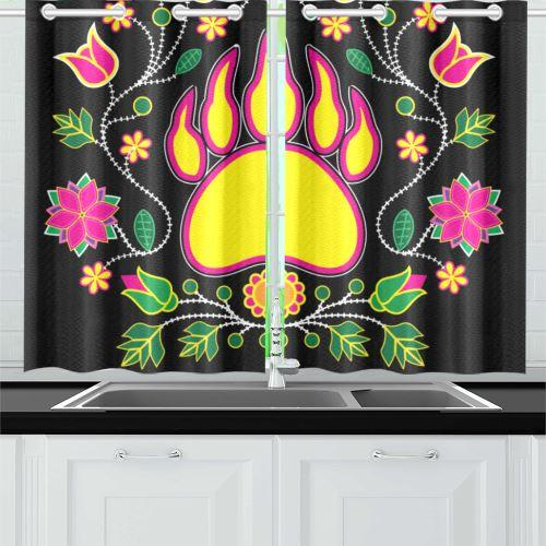 Floral Bearpaw Sunset and Yellow Kitchen Curtain 26'' X 39''(2 Pieces, 1 Design) Kitchen Curtain 26