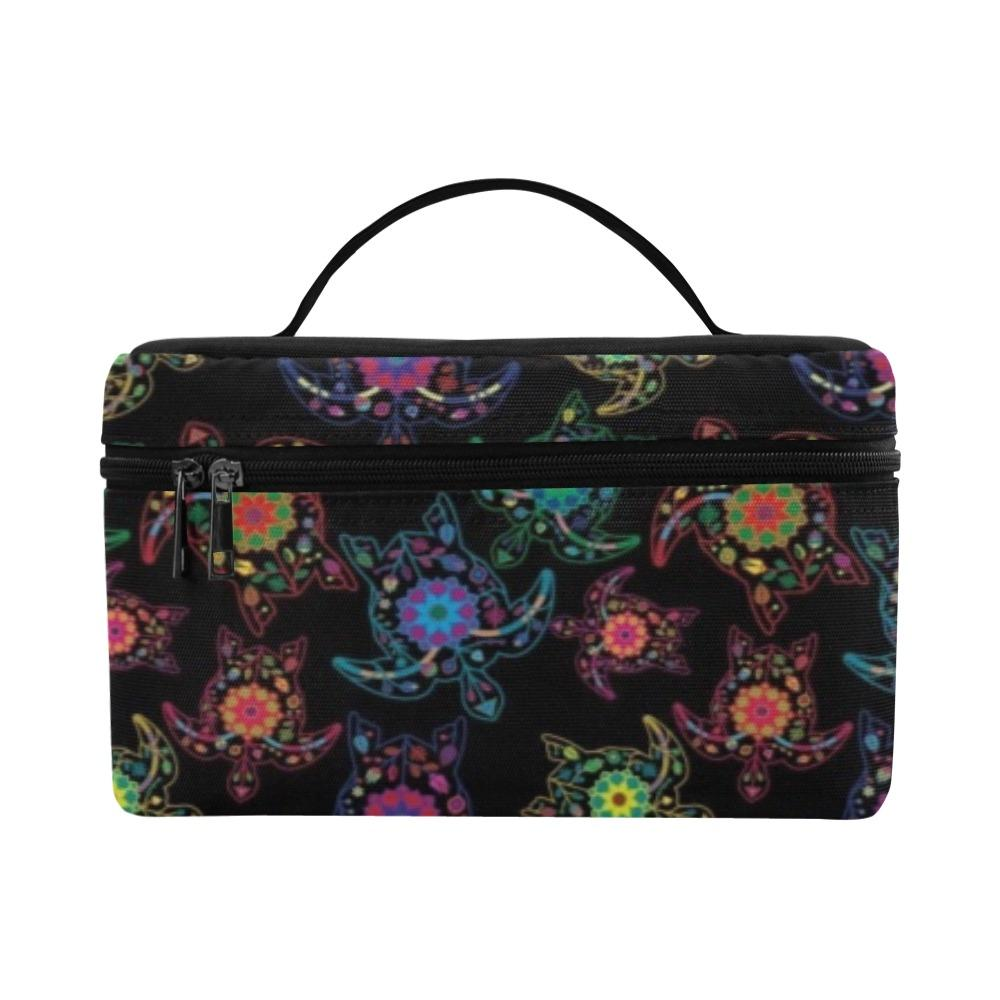 Floral Turtle Cosmetic Bag/Large (Model 1658) Cosmetic Bag e-joyer