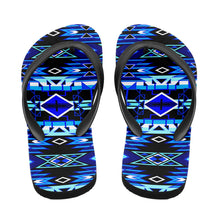 Load image into Gallery viewer, Force of Nature Winter Night Flip Flops 49 Dzine