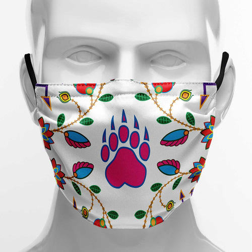Geometric Floral Fall White Face Cover Herman