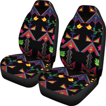 Load image into Gallery viewer, Geometric Floral Spring Black Car Seat Covers (Set of 2)