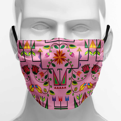 Geometric Floral Summer Sunset Face Cover Herman