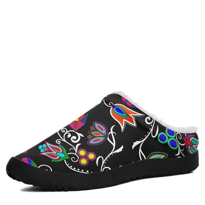 Indigenous Paisley Black Ikinnii Indoor Slipper 49 Dzine