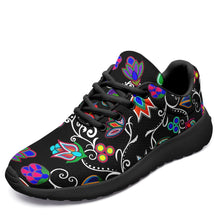 Load image into Gallery viewer, Indigenous Paisley Black Ikkaayi Sport Sneakers 49 Dzine US Women 4.5 / US Youth 3.5 / EUR 35 Black Sole
