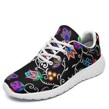 Load image into Gallery viewer, Indigenous Paisley Black Ikkaayi Sport Sneakers 49 Dzine US Women 4.5 / US Youth 3.5 / EUR 35 White Sole