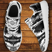 Load image into Gallery viewer, Okotoks Black and White Ikkaayi Sport Sneakers 49 Dzine