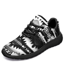 Load image into Gallery viewer, Okotoks Black and White Ikkaayi Sport Sneakers 49 Dzine US Women 4.5 / US Youth 3.5 / EUR 35 Black Sole