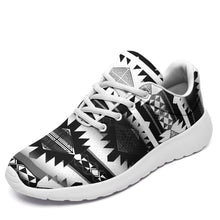 Load image into Gallery viewer, Okotoks Black and White Ikkaayi Sport Sneakers 49 Dzine US Women 4.5 / US Youth 3.5 / EUR 35 White Sole