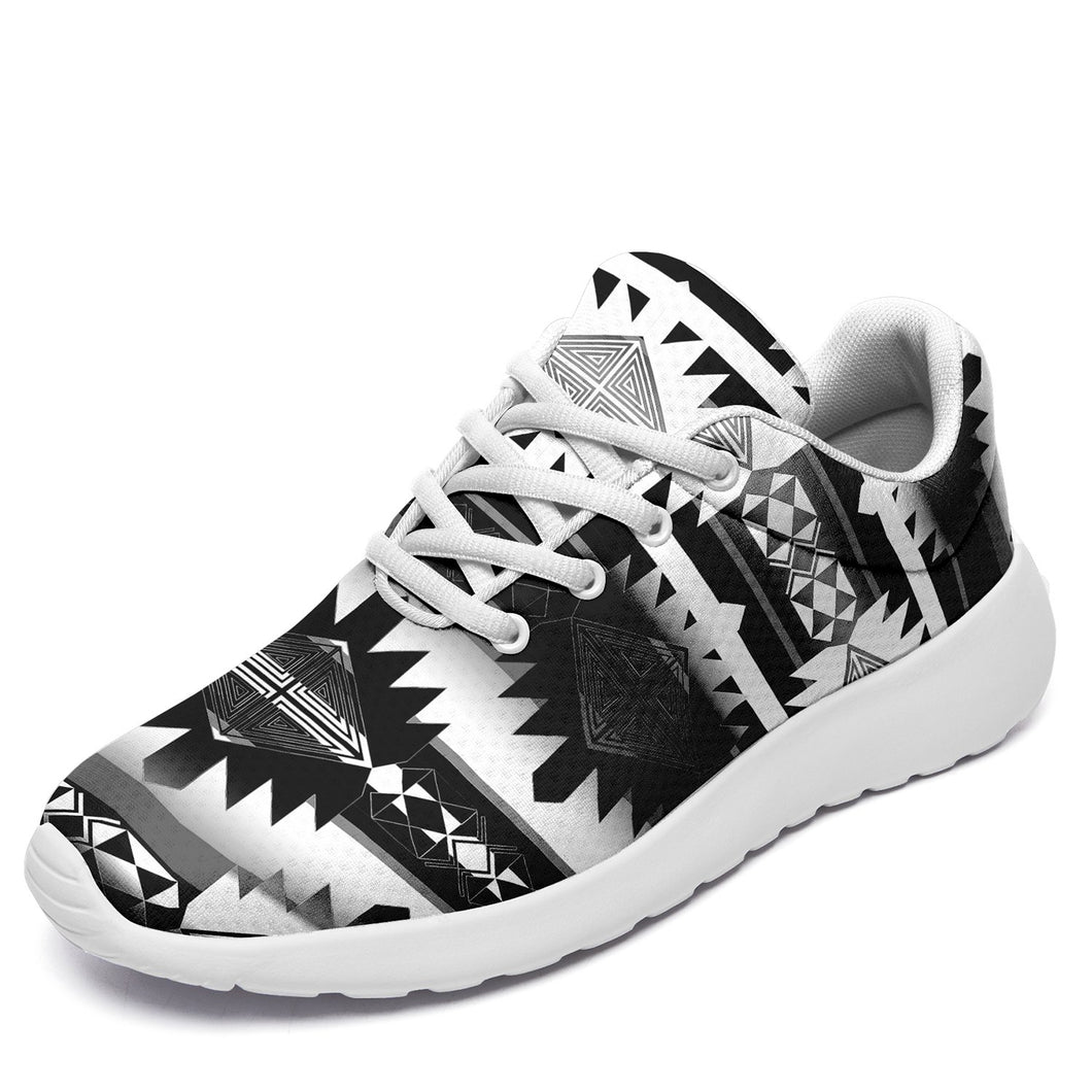 Okotoks Black and White Ikkaayi Sport Sneakers 49 Dzine US Women 4.5 / US Youth 3.5 / EUR 35 White Sole