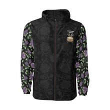 Load image into Gallery viewer, SDP - Floral Purple Beaded Rose Quilted Windbreaker All Over Print Quilted Windbreaker for Men (H35) e-joyer