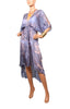 Cape Cod Cascade Robe - Grey/Pink