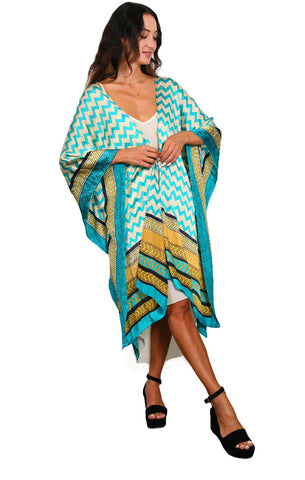 Desert Sunset - Mid-length Side Drape Kaftan