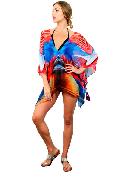 Super Bird - Open Side Poncho WITH ties