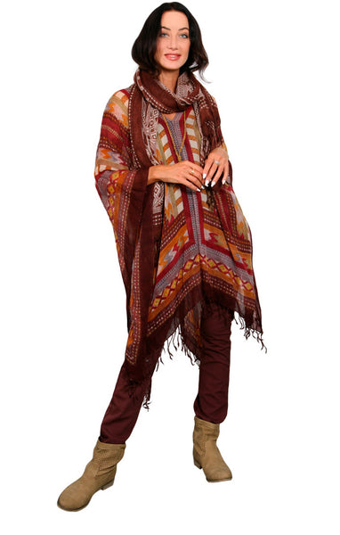 MAGIC DESERT - WOOL PETITE PONCHO
