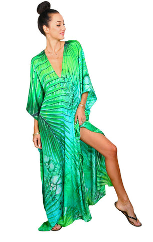 Tropical Palm - Eiffel Maxi Kaftan