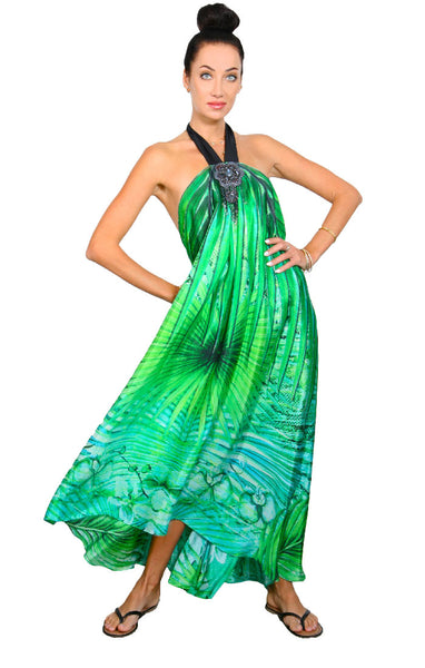 Tropical Palm - Goddess Dress