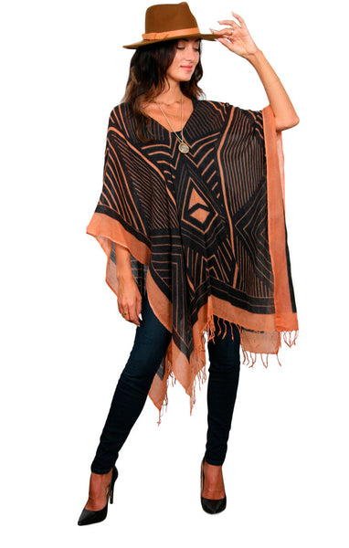 GEO AFRICANA - REGULAR WOOL PONCHO