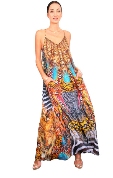 Wild Rotunda - Maxi Pocket Dress