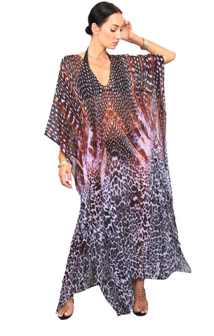Black Feather - Eiffel Maxi Kaftan