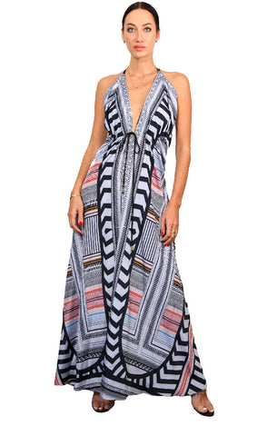 Art Deco - Long Spaghetti Dress