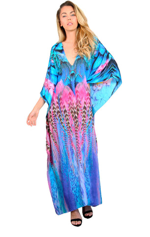 Feather Fun - Eiffel Maxi Kaftan