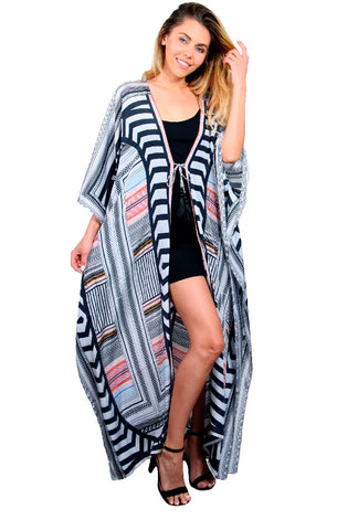 Art Deco - Side Drape Maxi Kaftan