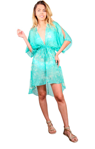 Cape Cod Mini Cascade Robe - Aqua