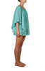 Kharum Ruffle Dress Cotton - Aqua/Copper