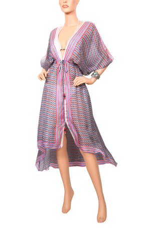 Nautical Chevron Cascade Robe