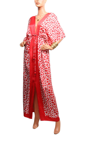 Sand Fossil Regular Robe - Red