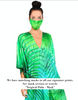 Tropical Palm - Slit Maxi Poncho