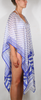 Mykonos Regular Poncho - white/blue