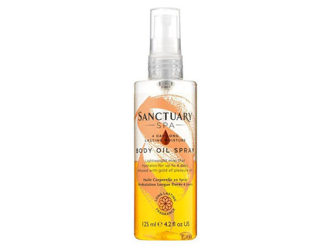 The Sanctuary Spa 4 Day Long Lasting Moisture Body Oil Spray 125ml